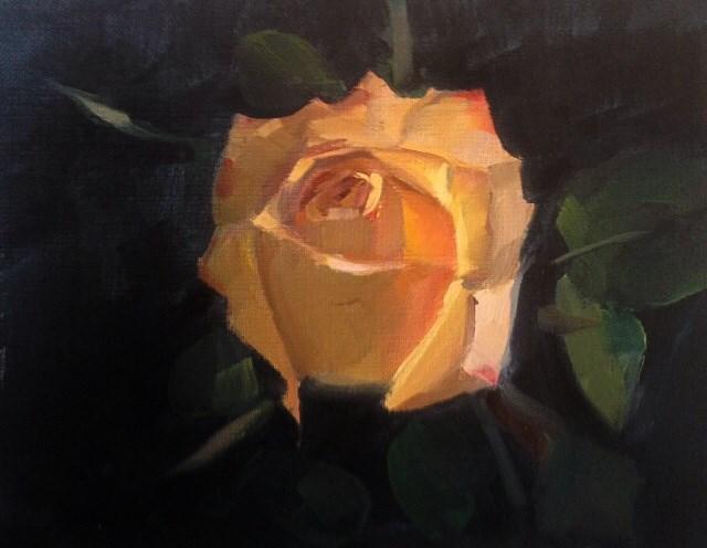"""Rose Study"" original fine art by Thomas Ruckstuhl"