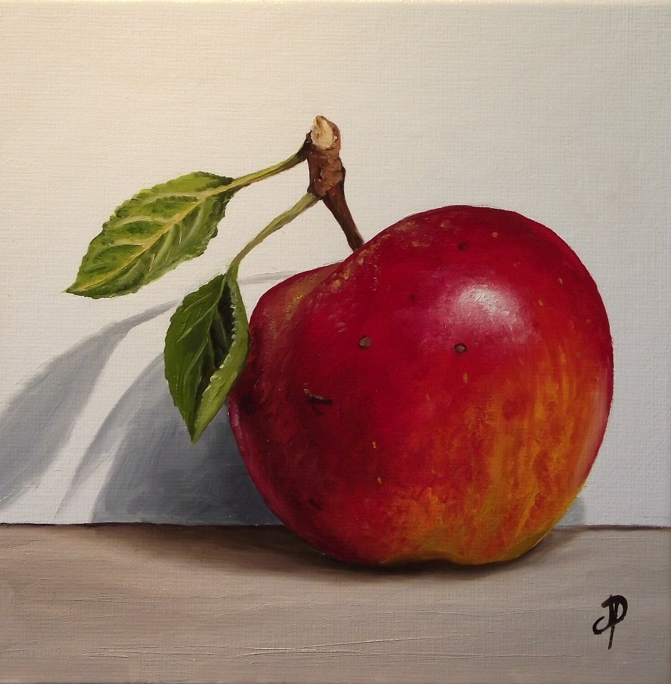 """Red Falstaff Apple"" original fine art by Jane Palmer"
