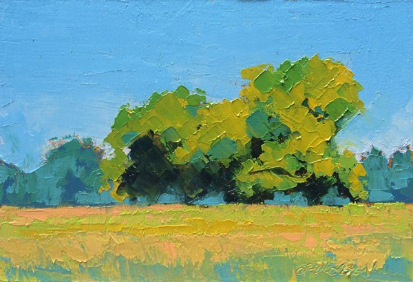 """Pecan Grove, White Heat"" original fine art by Mary Gilkerson"