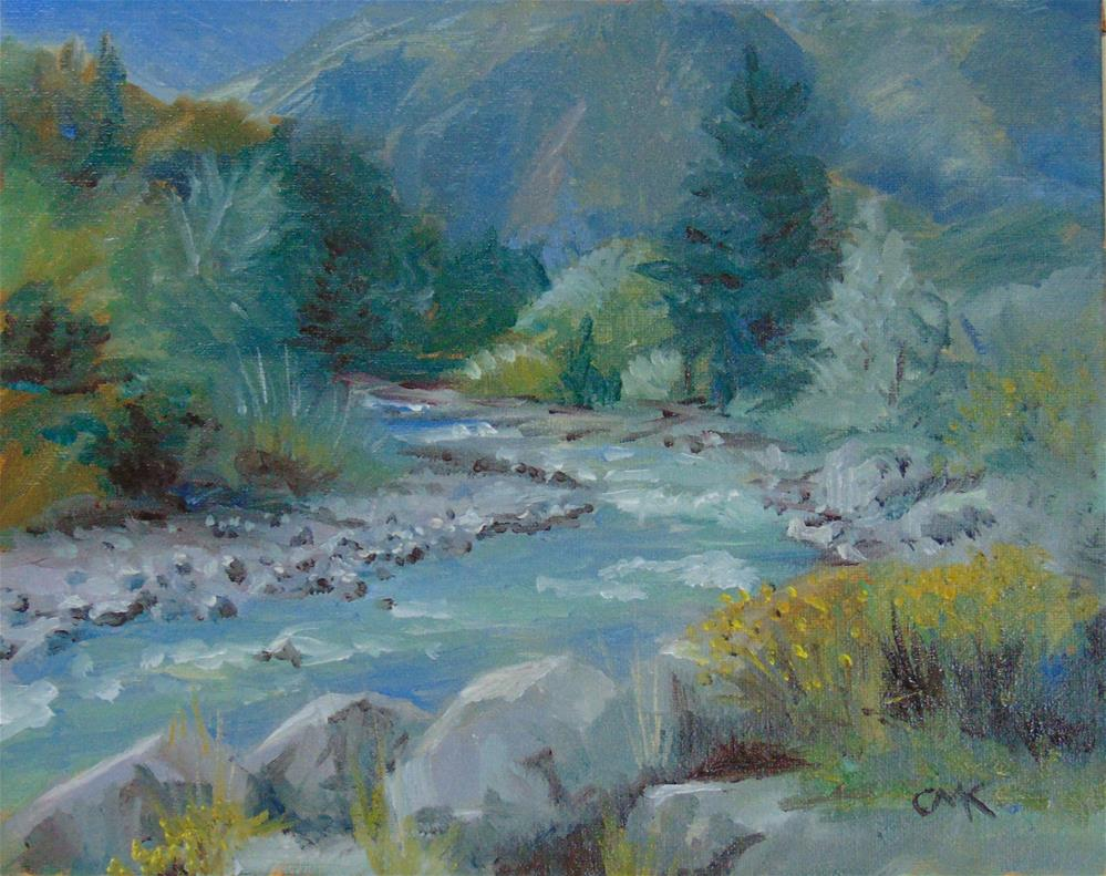 """Eagle River"" original fine art by Catherine Kauffman"