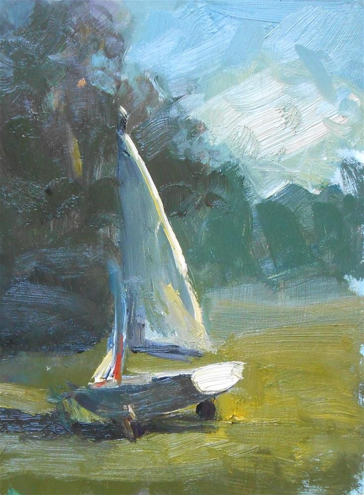 """Study of a Sailboat"" original fine art by Kelli Folsom"