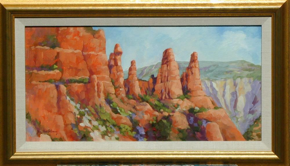 """The Sisters, The Chapel, Sedona, framed"" original fine art by Jean Pierre DeBernay"