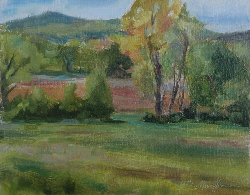 """Southall Meadows, Franklin, Tn. Landscape, Plein Air Original Oil by Carol DeMumbrum"" original fine art by Carol DeMumbrum"
