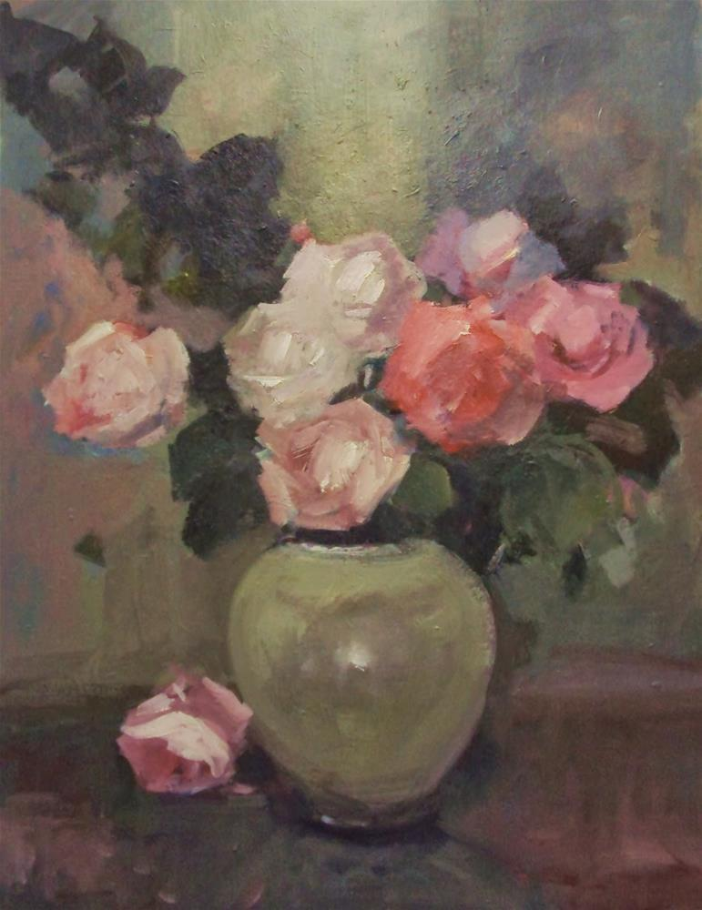 """Sunday roses #1"" original fine art by Parastoo Ganjei"