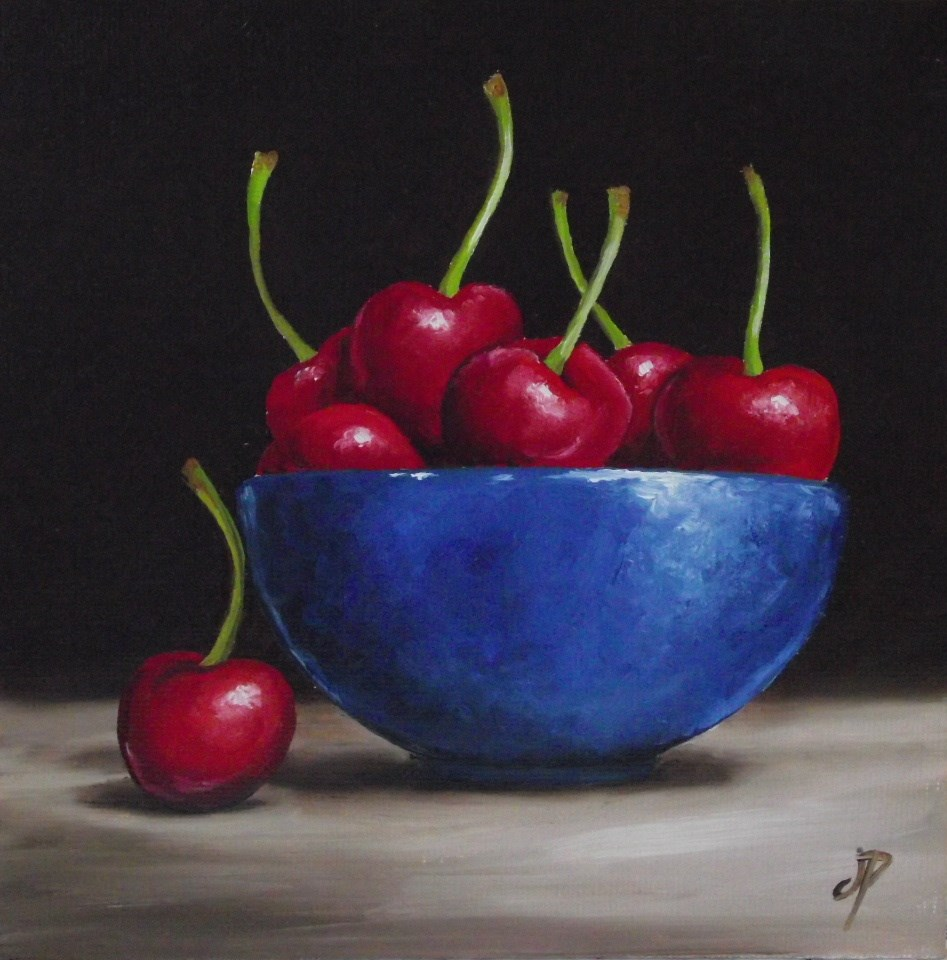 """Cherry bowl"" original fine art by Jane Palmer"