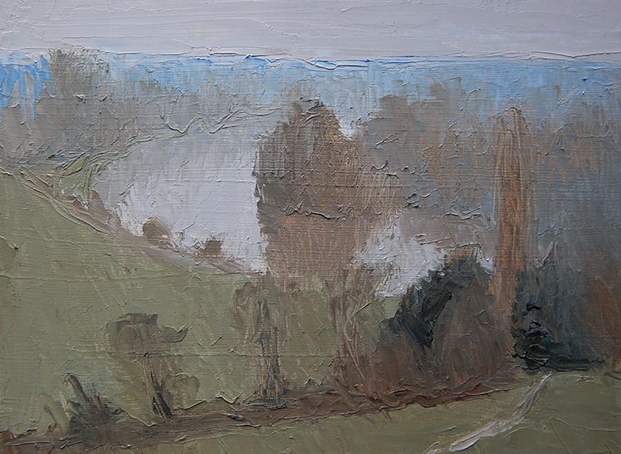 """Misty Vista"" original fine art by Jethro Knight"