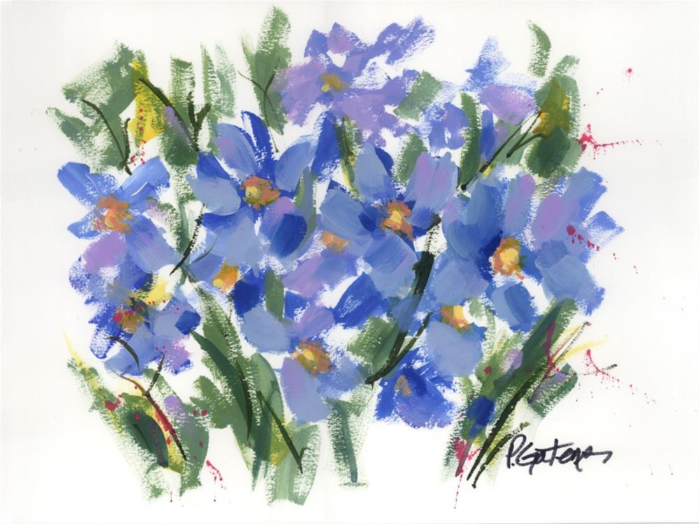 """Blue Poppy Graphic"" original fine art by Pamela Gatens"