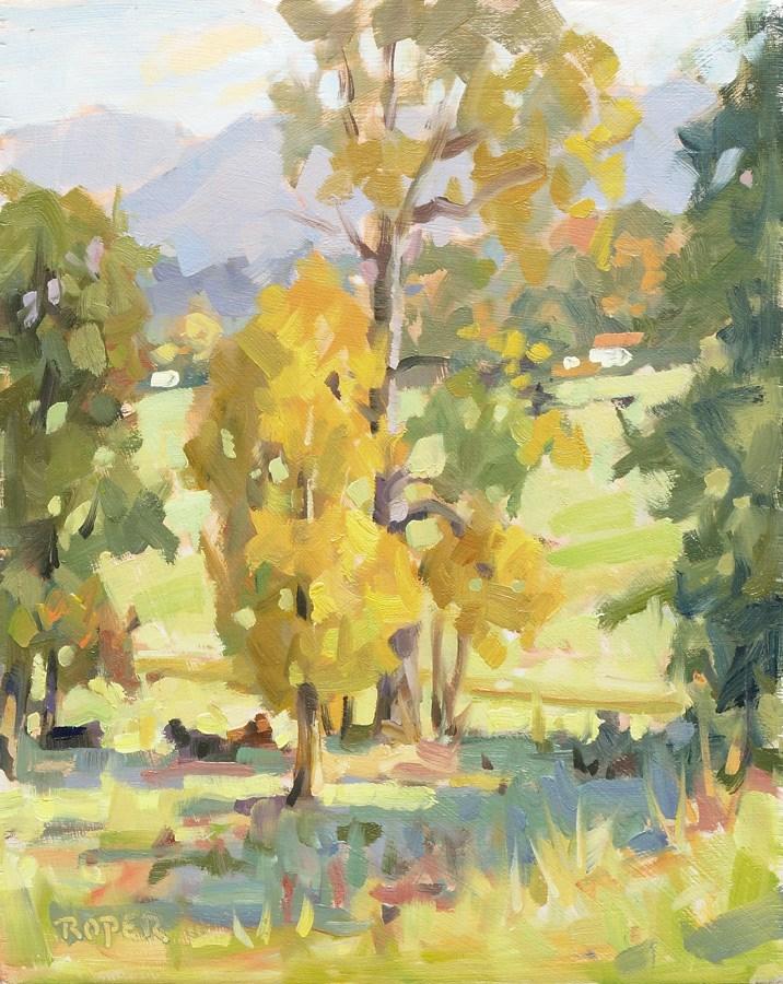 """DAY 14: Ridgeview  Colors"" original fine art by Stuart Roper"