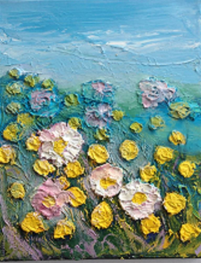 """'SUMMER BREEZE'"" original fine art by Marie O' Higgins"