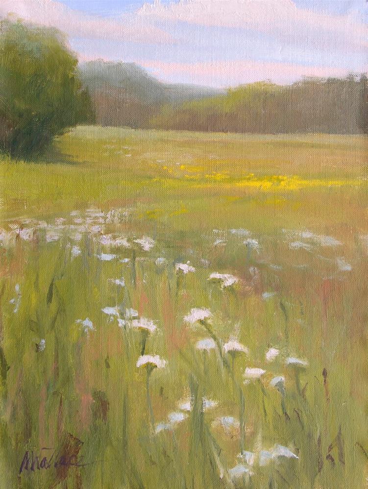 """""""#72 Flowery field"""" original fine art by Nancy Wallace"""