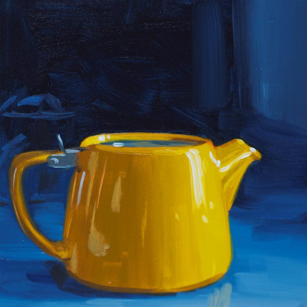 """""""Little Yellow Teapot"""" original fine art by Heather Bullach"""