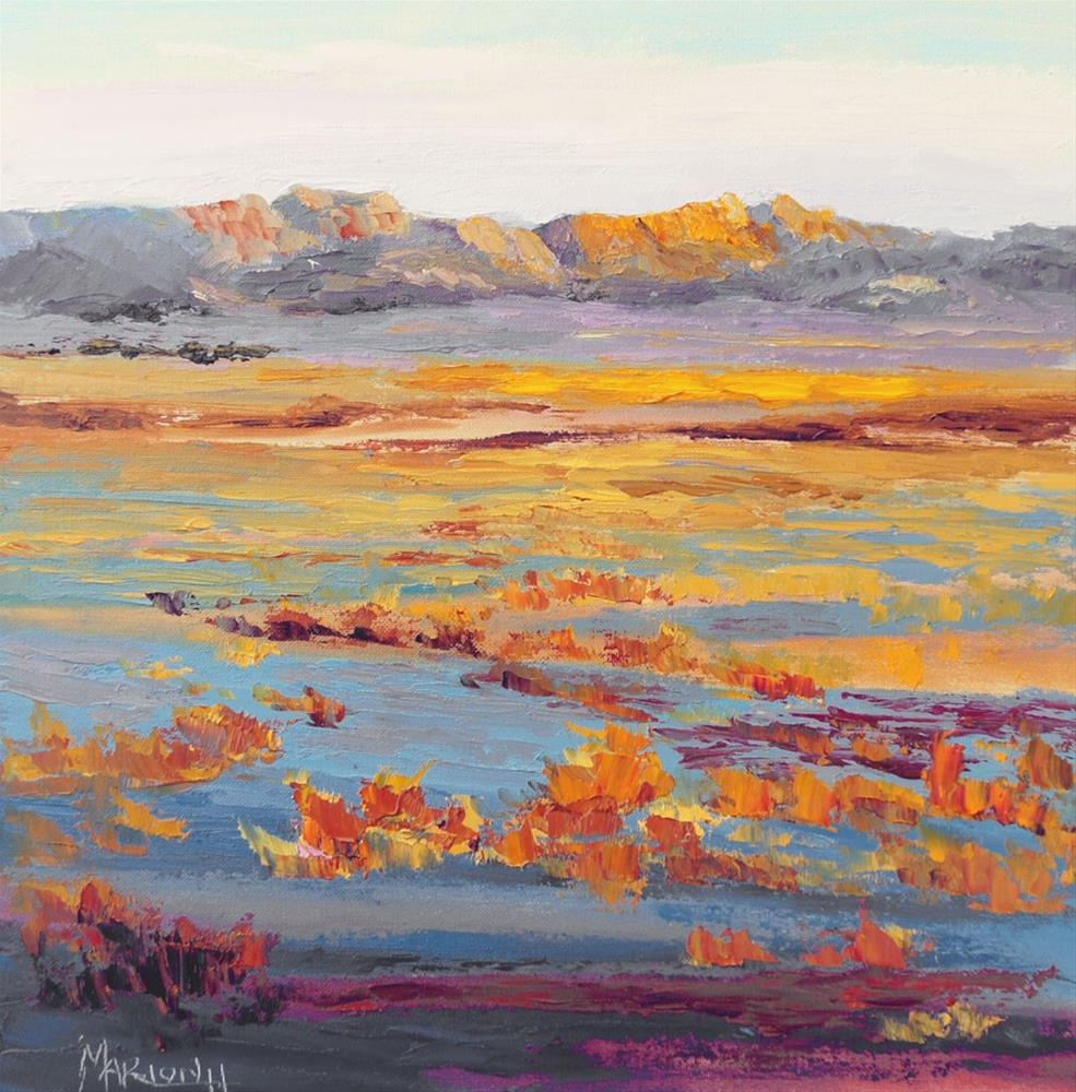 """Namibia Impressions 6 - Break of Day, sunrise"" original fine art by Marion Hedger"