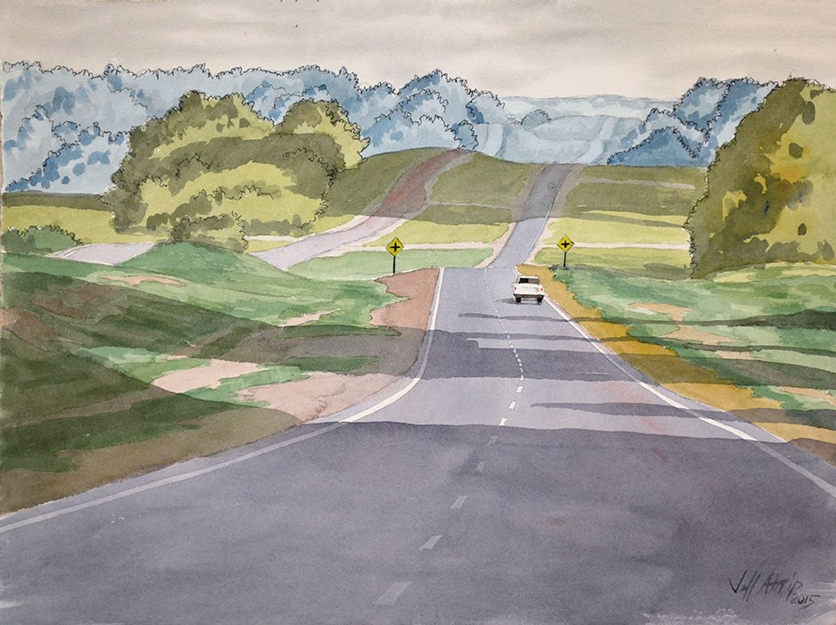 """Lonely Road #2"" original fine art by Jeff Atnip"