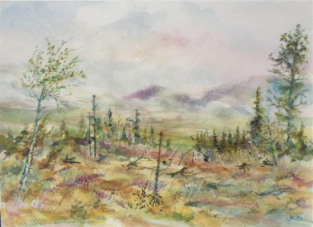 """Morning Fog Over Wet Mountain Valley"" original fine art by Jean Krueger"