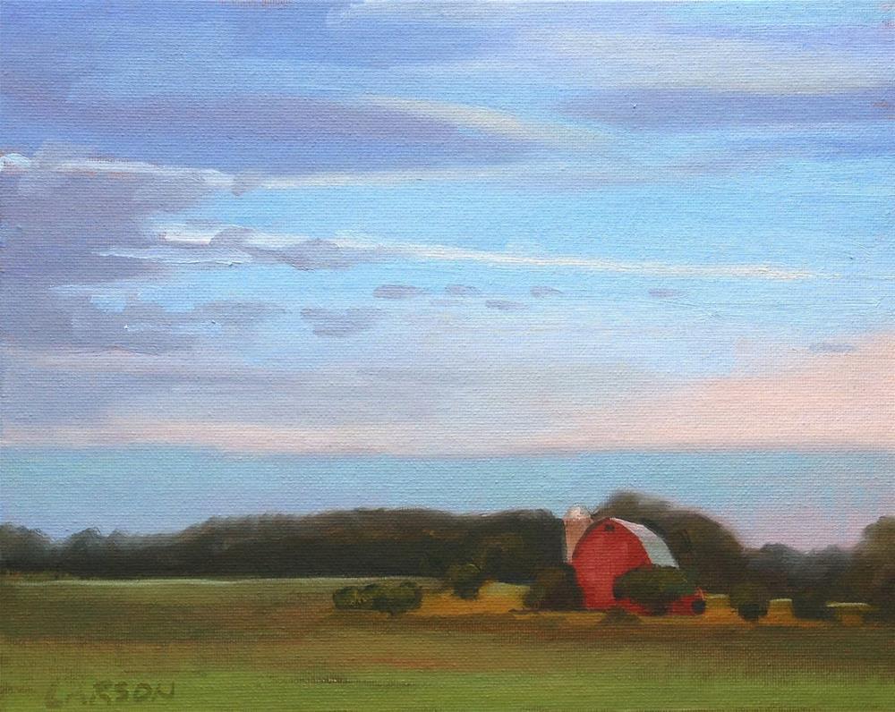 """Sunset Barn"" original fine art by Eric Larson"