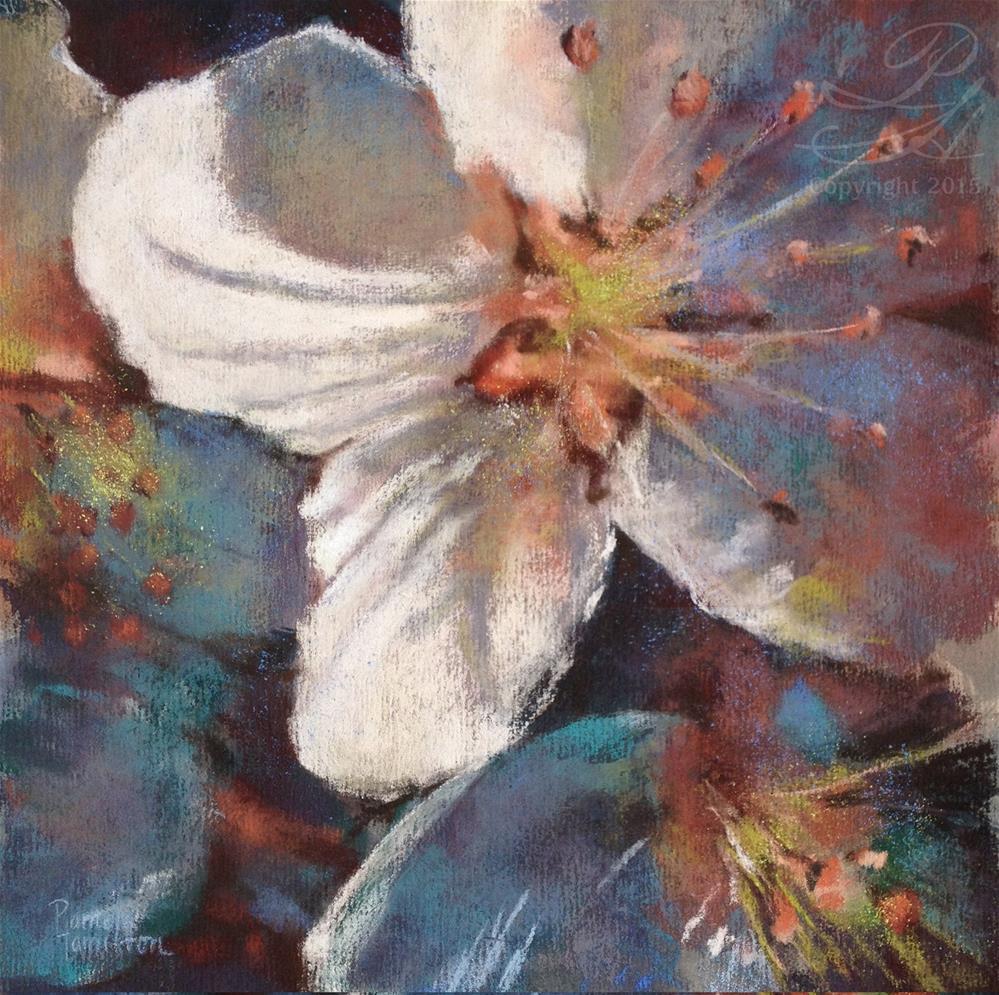 """""""Triptych Blossom, 2"""" original fine art by Pamela Hamilton"""