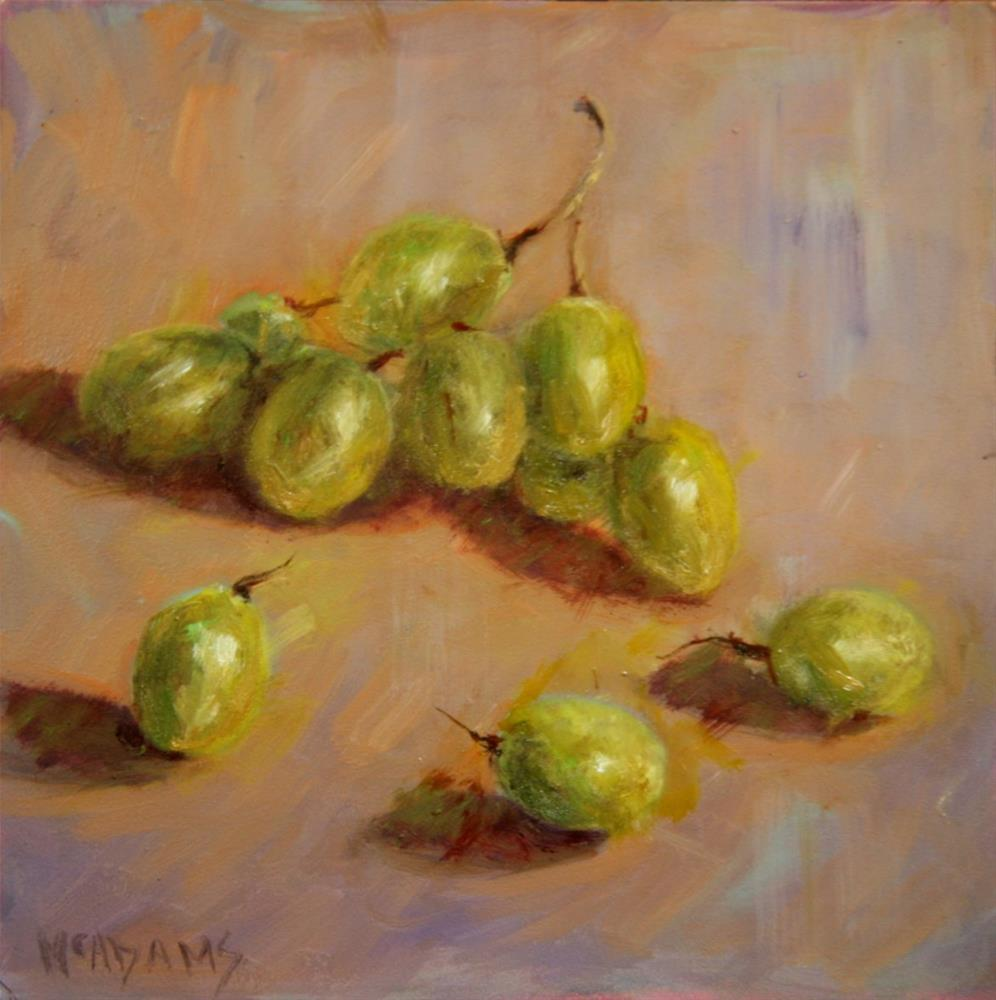 """Green Grapes."" original fine art by Phyllis McAdams"