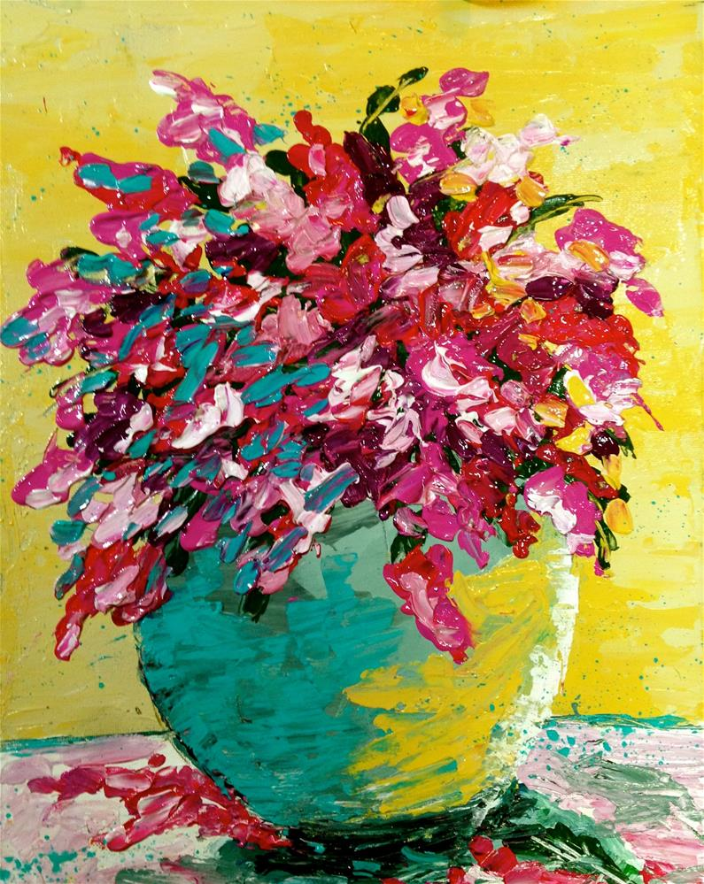 """Flowers in Vase"" original fine art by Barbara Beckmann"