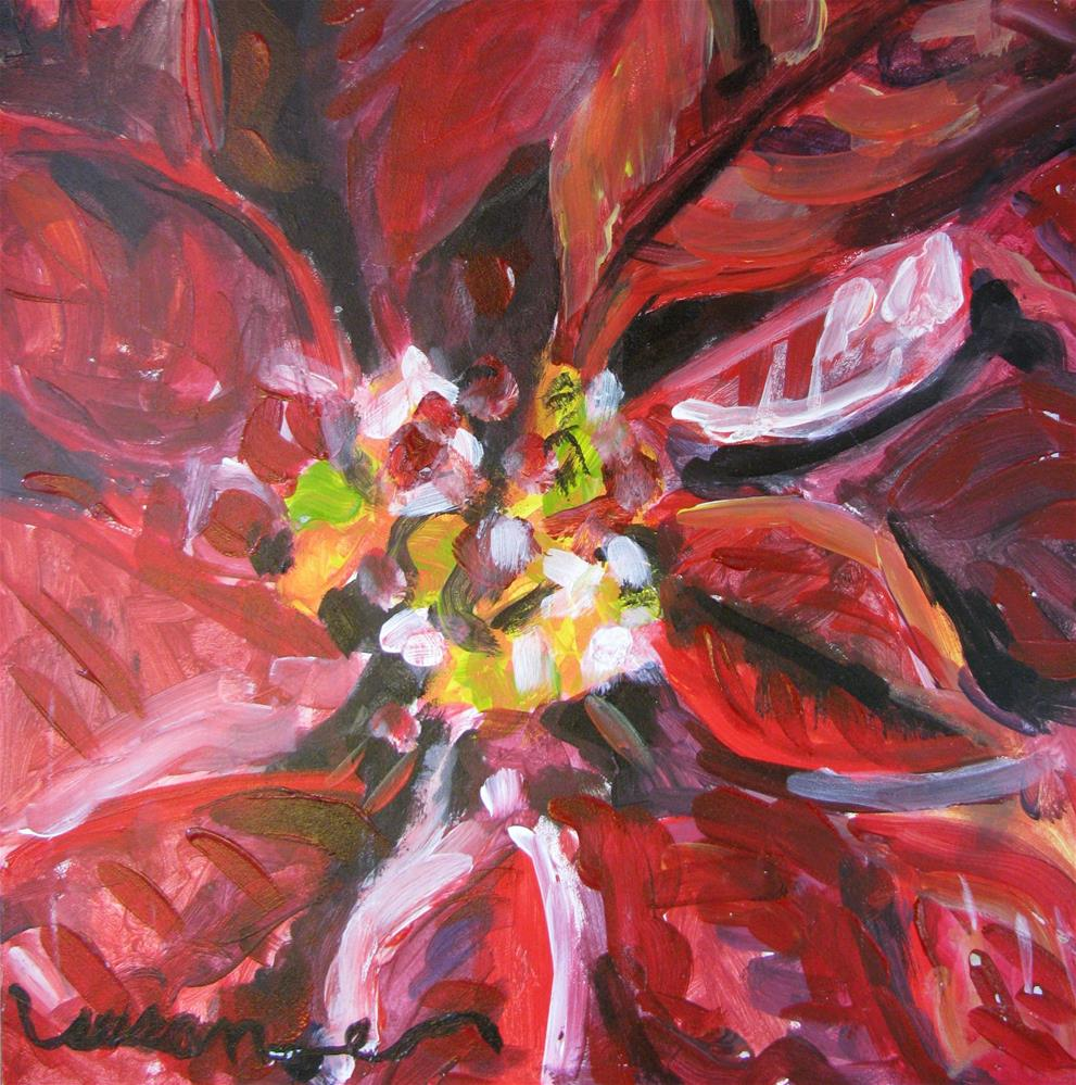 """Poinsettia"" original fine art by Susan Elizabeth Jones"