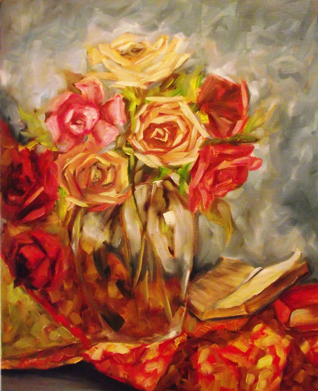 """Rambling Roses"" original fine art by Angela Sullivan"