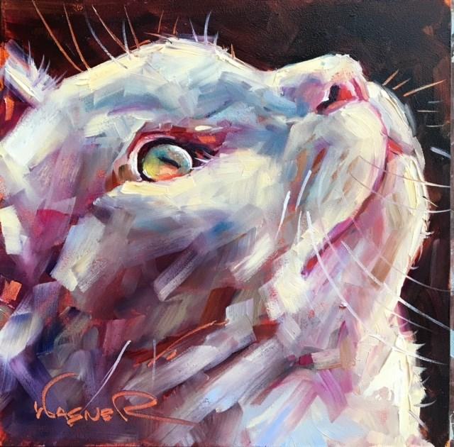 """THINGS ARE LOOKING UP"" original fine art by Olga Wagner"