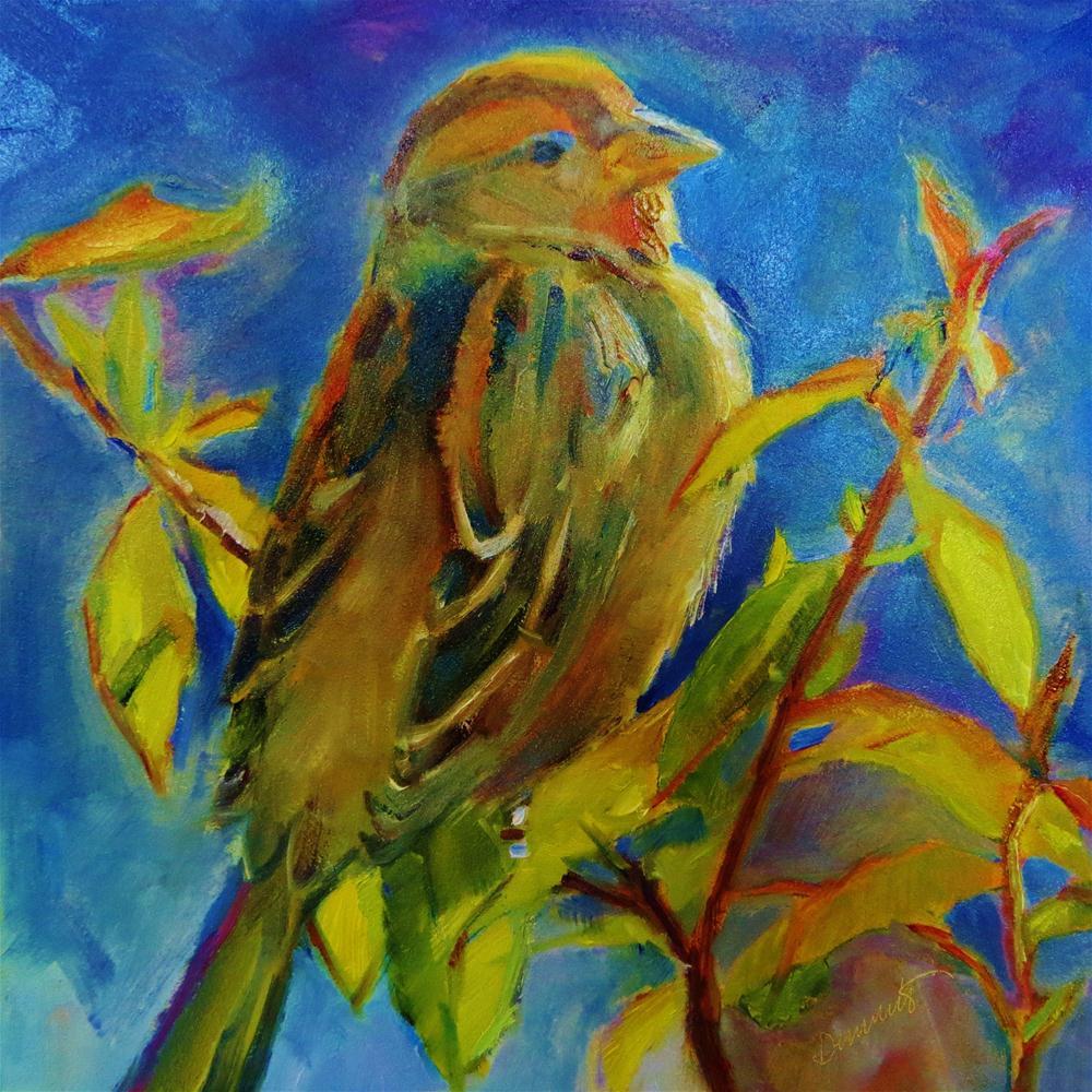 """Sparrow Spirit"" original fine art by Scarlet Owl Studio"