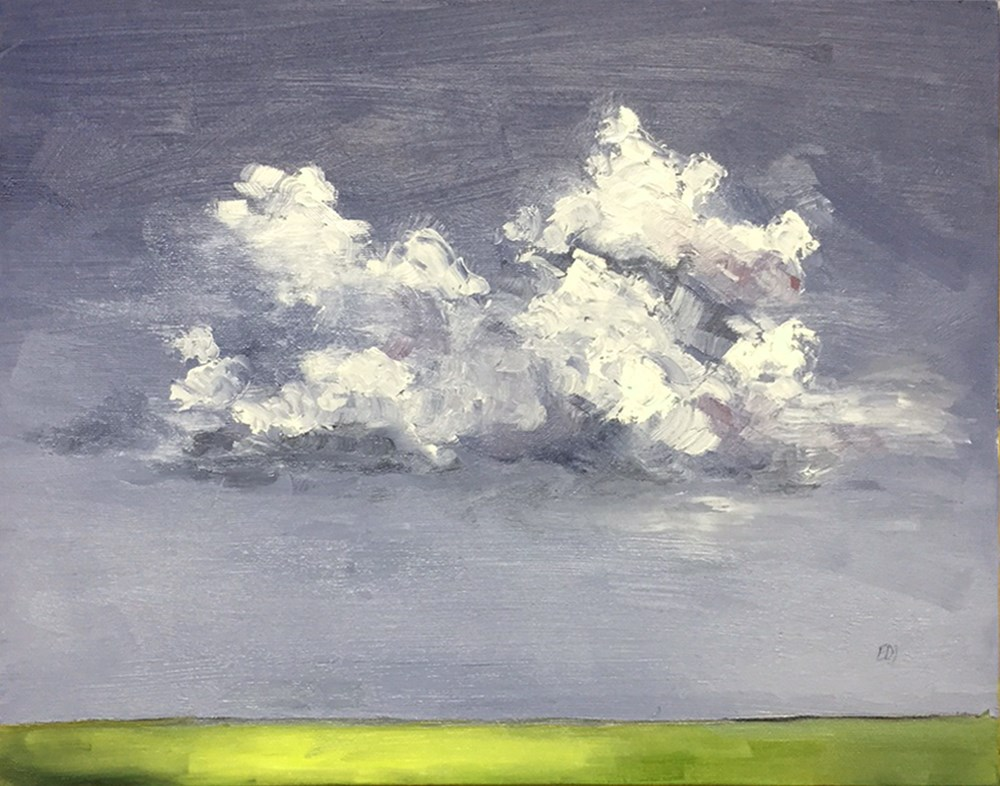 """Clouds 2"" original fine art by Elizabeth Dawn Johnston"