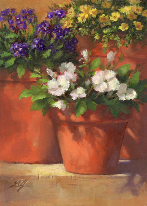 """Summer Blooms"" original fine art by Linda Jacobus"