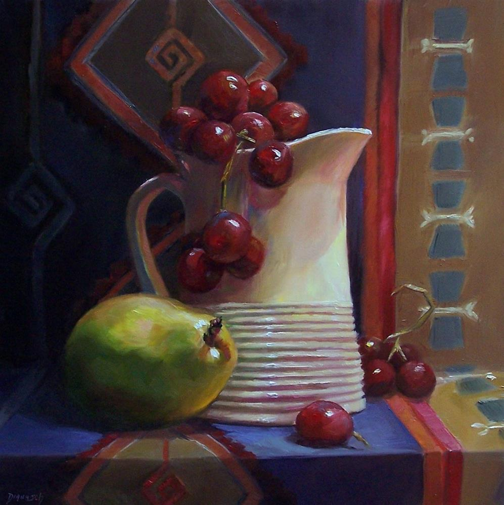 """Tapestry Still Life"" original fine art by Donna Munsch"