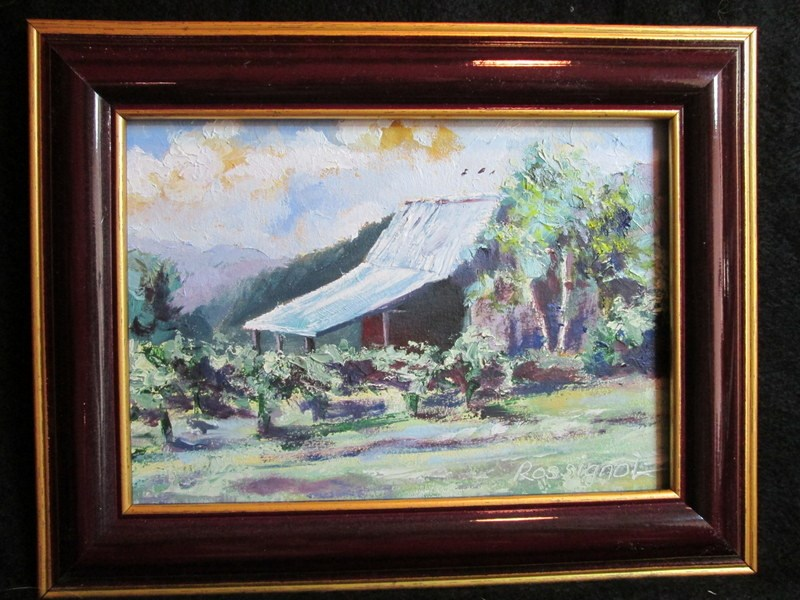 """Henery's Vineyard"" original fine art by Norm Rossignol"