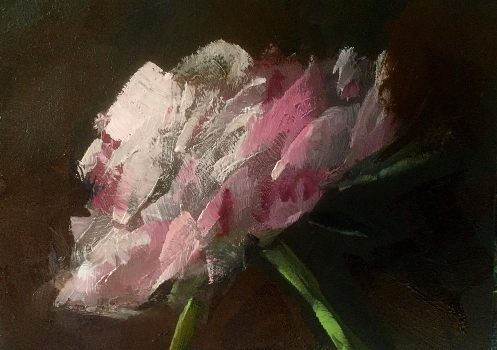 """Minimalist Peony Study"" original fine art by Gary Bruton"