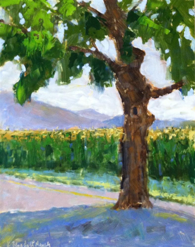 """Tree on Ladd Road"" original fine art by Katharine March"