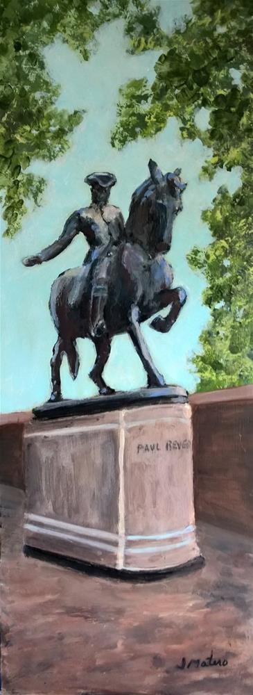 """Paul Revere statue"" original fine art by Joan Matero"