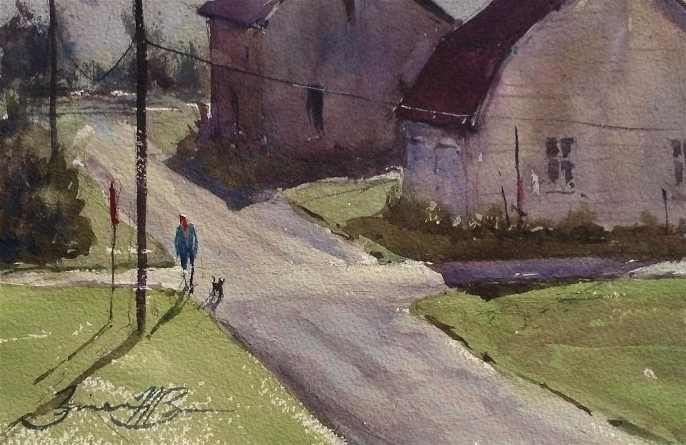 """Coburn Walk on Alley B"" original fine art by Brienne M Brown"
