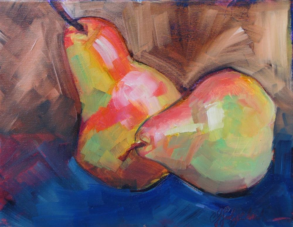 """Pear Pair16x20 oil"" original fine art by Christine Holzschuh"