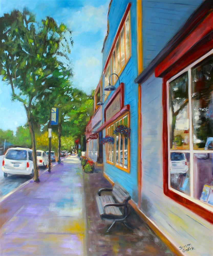 """Fort Langley Street Scene"" original fine art by Susan Galick"