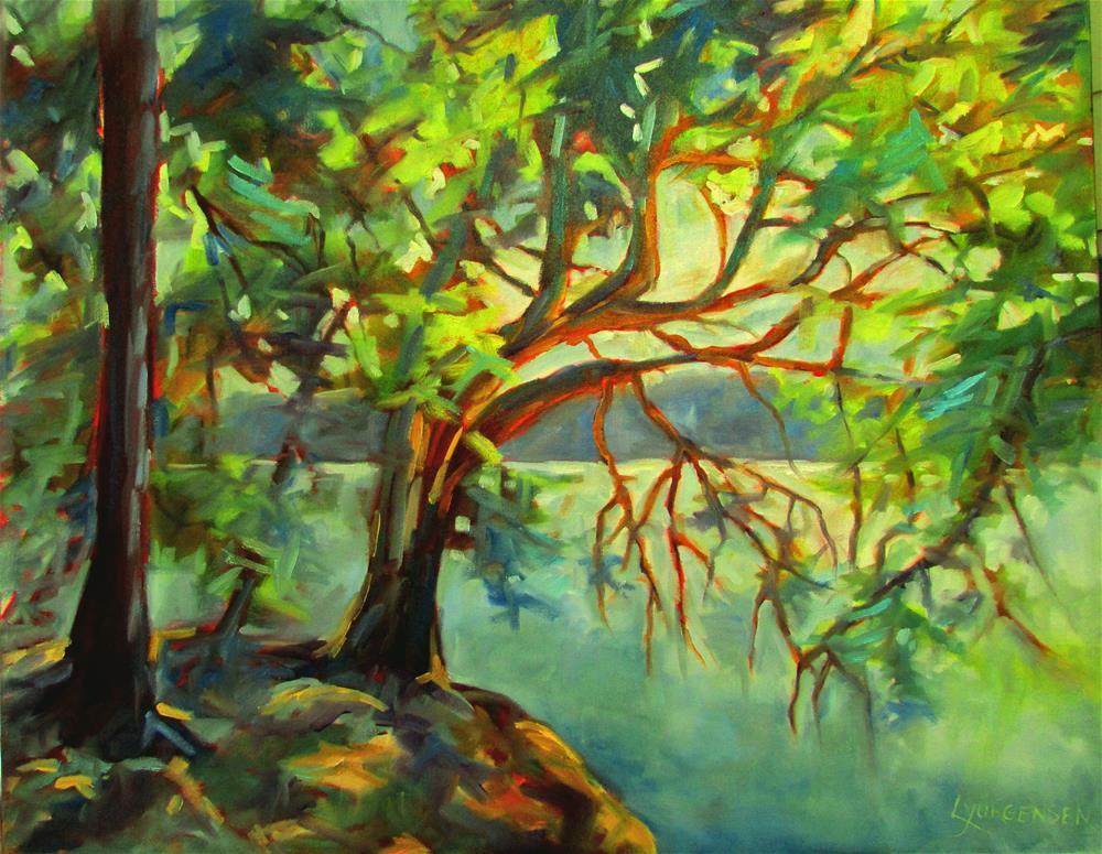 """24 x 30 inch oil Arbutus Tree, Wallace Island"" original fine art by Linda Yurgensen"
