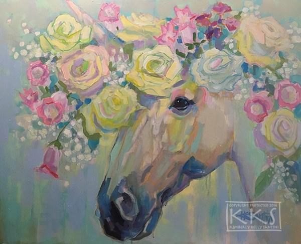 """Purity"" original fine art by Kimberly Santini"