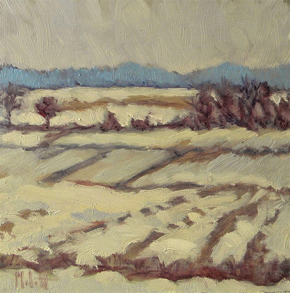 """Winter Landscape Painting Snowy Fields of Slumber"" original fine art by Heidi Malott"