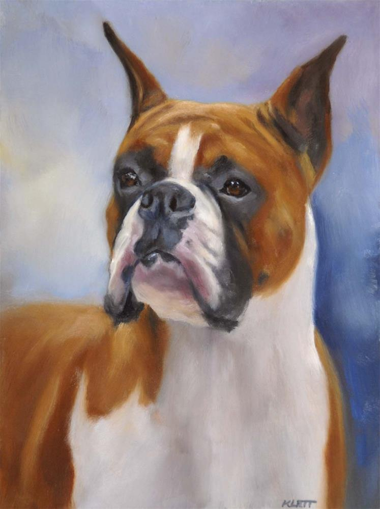 """Boxer"" original fine art by Tracy Klett"