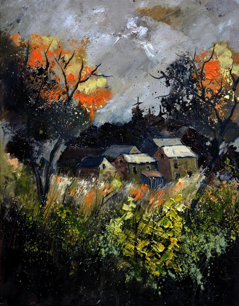 """Autumn 455111"" original fine art by Pol Ledent"