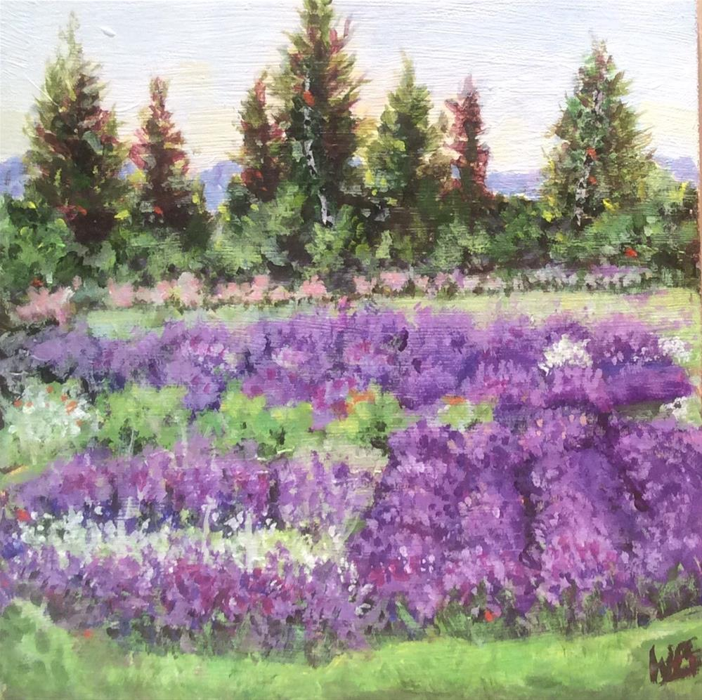 """""""Victoria Garden"""" original fine art by wendy black"""