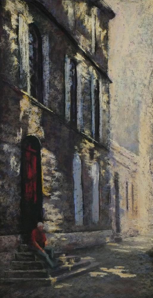 """Steps in Avignon"" original fine art by Linee Baird"