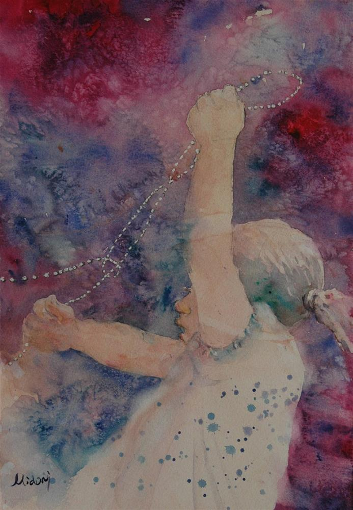 """""""Sharjah Planetarium"""" original fine art by Midori Yoshino"""