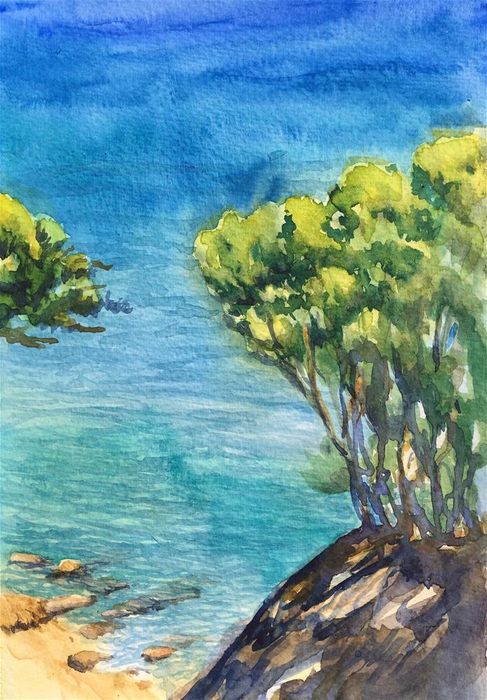 """""""Mediterranean Blue"""" original fine art by Natasha Ramras"""
