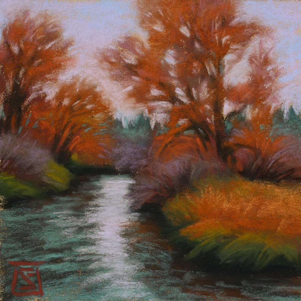 """View from the Bridge"" original fine art by Sheila Evans"