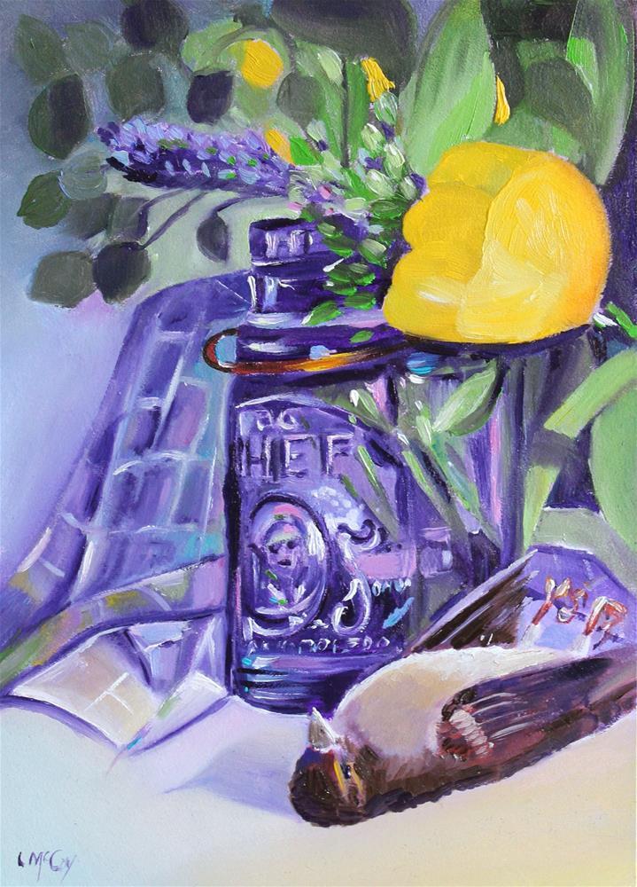 """Stilll Life, Birds and Flowers"" original fine art by Linda McCoy"