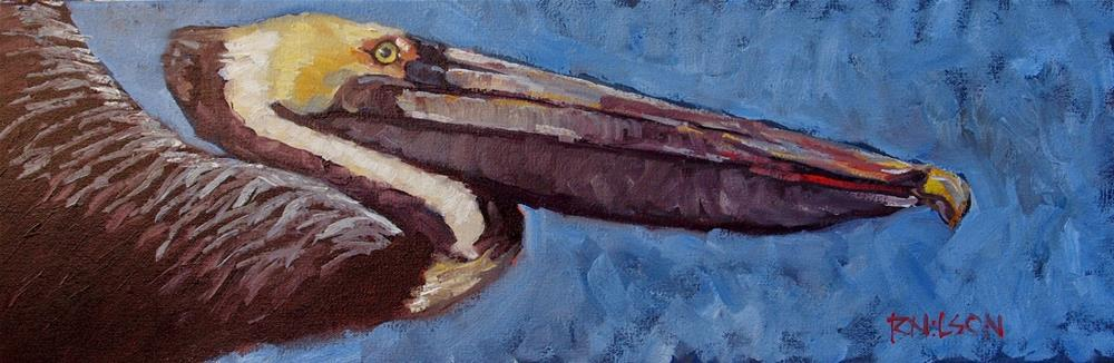 """Ahead of Pelican"" original fine art by Rick Nilson"