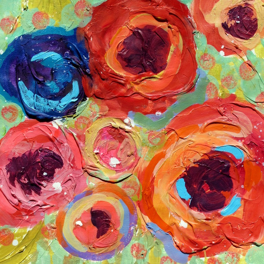 """California Roses #2, 12105 SOLD"" original fine art by Nancy Standlee"