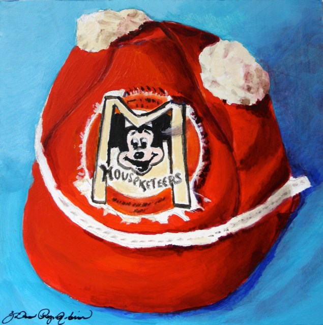 """Mickey Cap"" original fine art by JoAnne Perez Robinson"